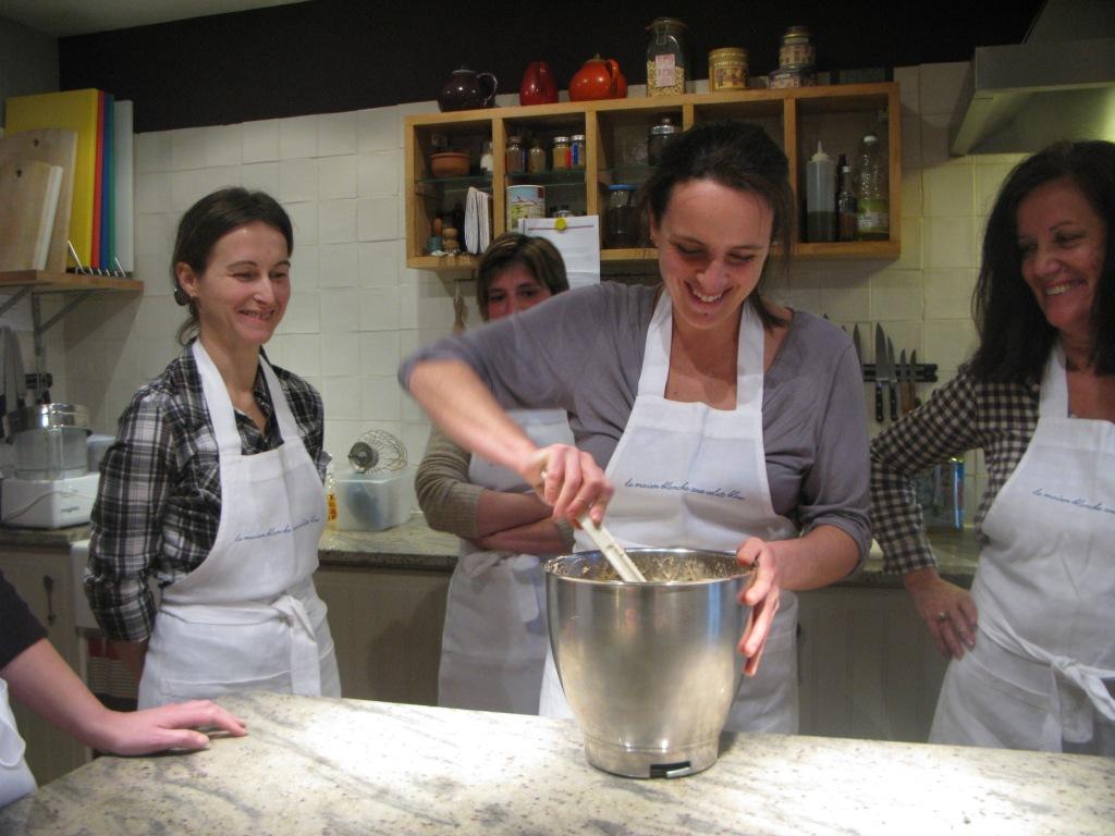 atelier de cuisine 'macarons' de ce midi.