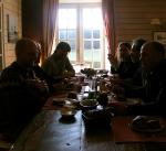 Na een zonnig ontbijt (enfin, voor ene al wat zonniger en voor de andere al wat mistiger) zijn de Grote Jongens vertrokken.