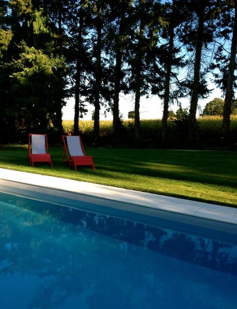 Zelfs eind september is het zalig om te zwemmen ! Het water is nu 27 à 28 °C. De zon schijnt en het is windstil.