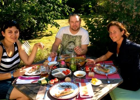 Zomerse lunch met de styliste Naomi en fotograaf Brent
