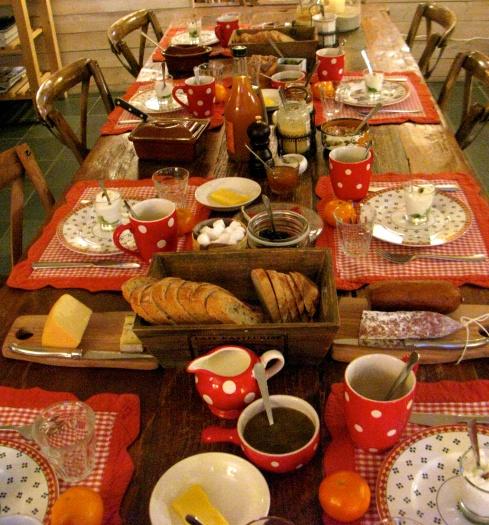 Ontbijt in de tweede storm van deze week !