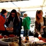 Oesteruitstap met een oesterboot in Baden, zalig zonnige dag !