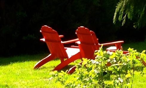 Onze nieuwe gasten (enfin, eigenlijk oude bekenden :)) zijn net toegekomen en zitten te genieten in de tuin met een glaasje cider in het Bretoense zonnetje.