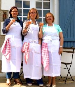 Drie dames, derde kookatelier:) !