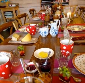 Onze gasten hebben lekker ontbeten vanochtend....