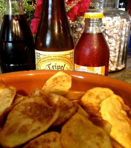 Zo zag de voetbal match eruit bij ons : een drinkbare tricolore met huisgemaakte chips en net gekookte langoustines ! Onze gasten zijn immers grote fans  !