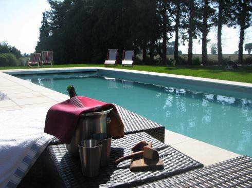 1 kamer vrij op zaterdag 5 juli voor 1 nacht !! Zie je jezelf daar al heerlijk zitten aan het zwembad ? 's Avonds beentjes onder tafel voor een lekker diner en dan een zacht warm bedje ! Boekingen op info@lamaisonblancheauxvoletsbleus.com