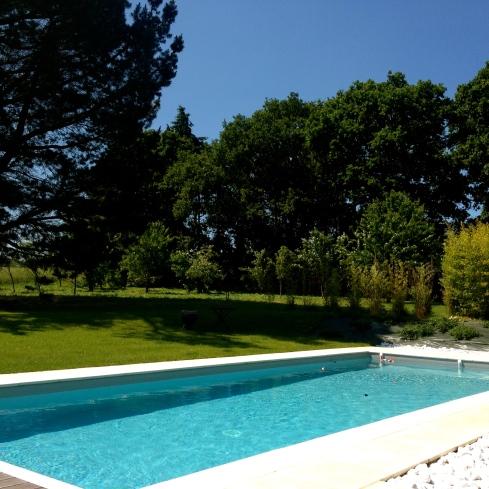 Onze gasten hebben genoten van het heerlijk verwarmde zwembad vandaag ! Op het menu een lekkere goudbrasem met één van mijn favoriete wijnen Menetou Salon. Njammie !
